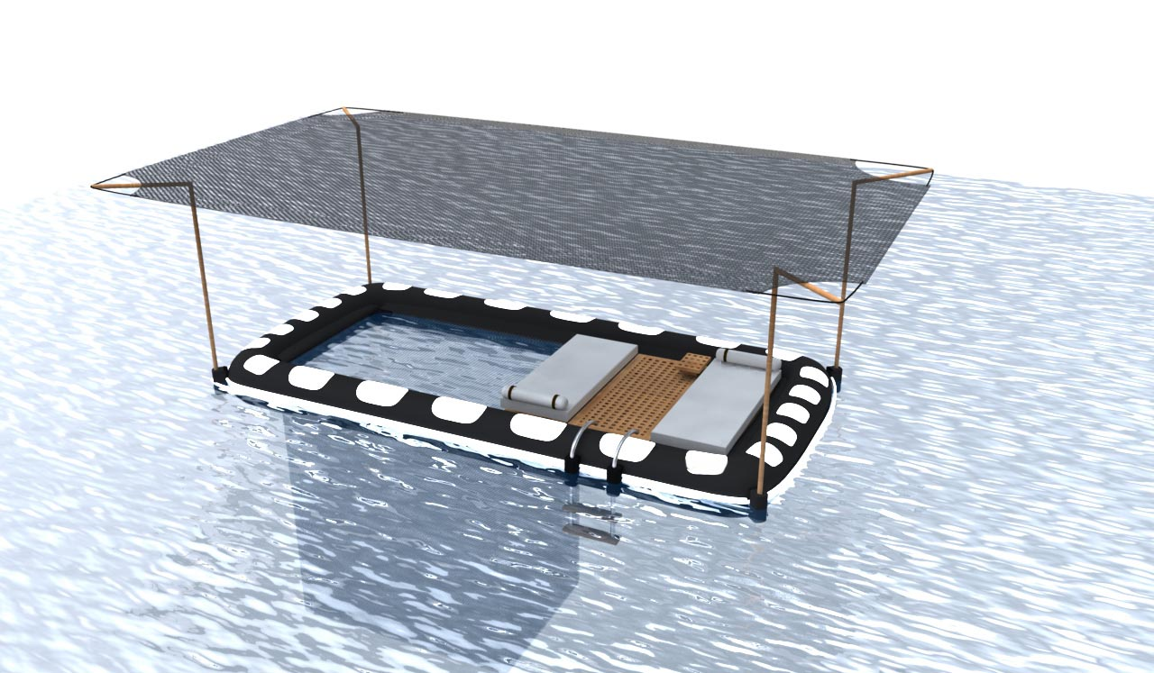 Keeping sea creatures and jelly fish at bay, the pool netting on your Sea Cabana lets you swim with your mind at ease.